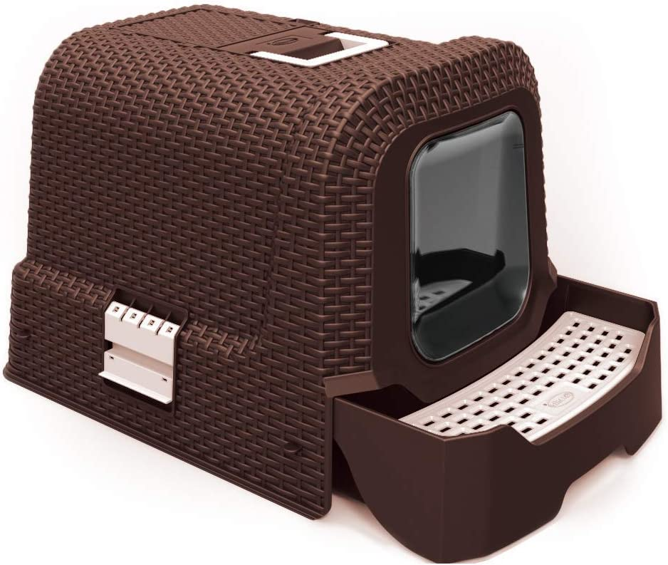 Penn-Plax Deluxe Covered Litter Box Albuquerque Mall Scoop Super sale Tray with Removable