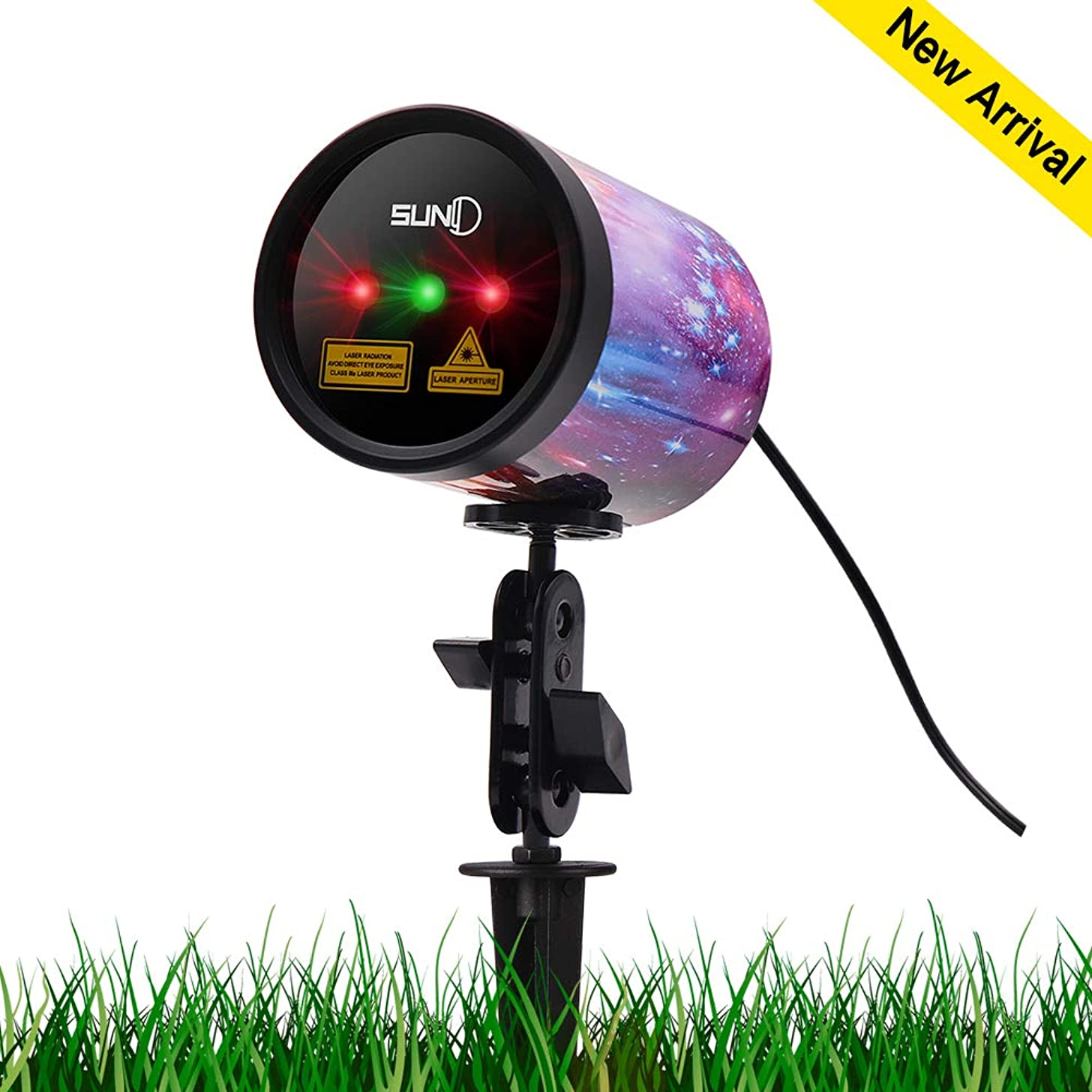 Outdoor Laser Light SUNY 3 Lens Christmas Laser Projection Red Green Color Xmas Theme Projector Landscape Light Color Printed Aluminum Alloy Shell Wide Coverage Waterproof Holiday Party Night Decor