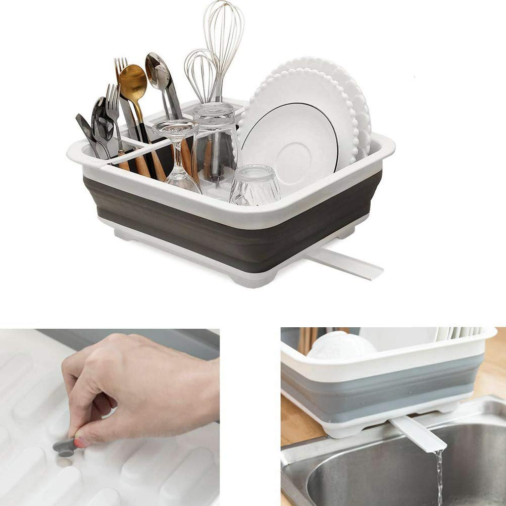 Collapsible Portable Drainer Dinnerware Kitchen