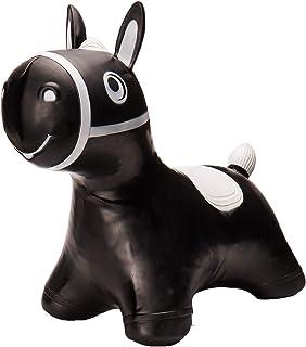 Tootiny Caballo de Saltar, Juguete Hinchable de Goma Resistente, Incluye Bomba, para niños a Partir de 12 Meses de Vida, Color Negro (5907630901552)