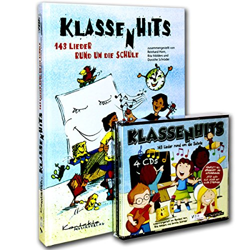 Clases Hits–Set: Song libro + 4CDs–143Canciones para las clases 1–6–Ideal para clases de banda–Contactos Estimada Verlag 9783896170910