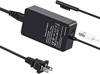 Surface Pro Charger Surface Book Charger 44W 15V 2.58A Power Supply for Microsoft Surface Book Surface Pro 3 Pro 4 Pro 5 Pro 6 Surface Go Surface Laptop Charger Adapter with USB Port to Charger Other