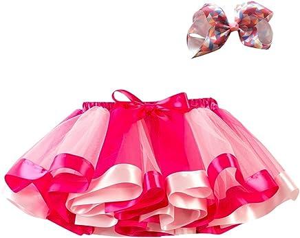 P/úrpura 2-11T Azul,S,M,L Arco Horquilla Hair Set Rosa Happy-day Ropa Bebe Algodon ni/ño, Malla Infantil Rainbow Princess Ballet Tut/ú Performance Falda Tutu Falda