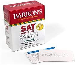 SAT Subject Test Math Level 2 Flashcards (Barron's Test Prep)
