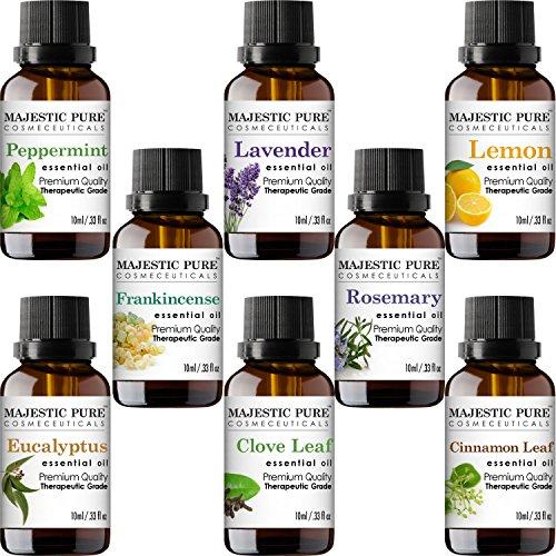 MajesticPure Aromatherapy Essential Oils Set - 10 ml each