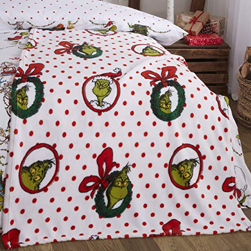 Coco Moon The Grinch Polka Dot Kids Fleece Blanket Genuine The Grinch Bedroom Merchandise