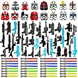 BOUN Kit de Armas para Minifiguras Soldados, 83 Piezas Estilo de Sci-fi Juguete Militar Kit Casco Máscara Espada Larga Compatible con Lego Star Wars