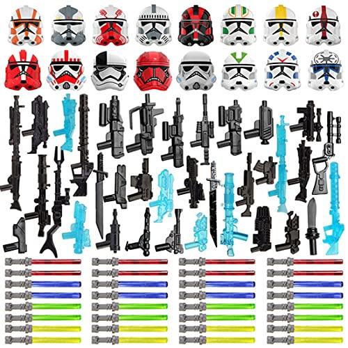 MSEI 83Pcs Star Wars Weapon Helmet Armor Kit for Lego Star War,...