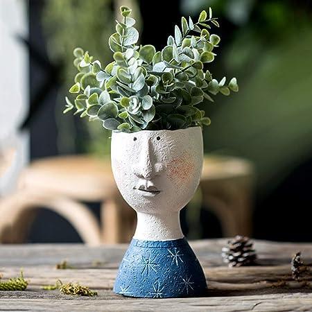 Pottery Set Handmade Vases Head Vase Ceramic Mug Flower Vase Pottery Planter Vases With Faces Home Decor Dry Flower