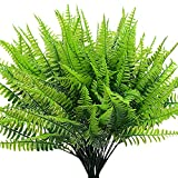 Artificial Plant Ferns Fake Plants Boston Ferns for Outdoors Greenery Bushes Home Garden Office Decoration (Pack of 4)