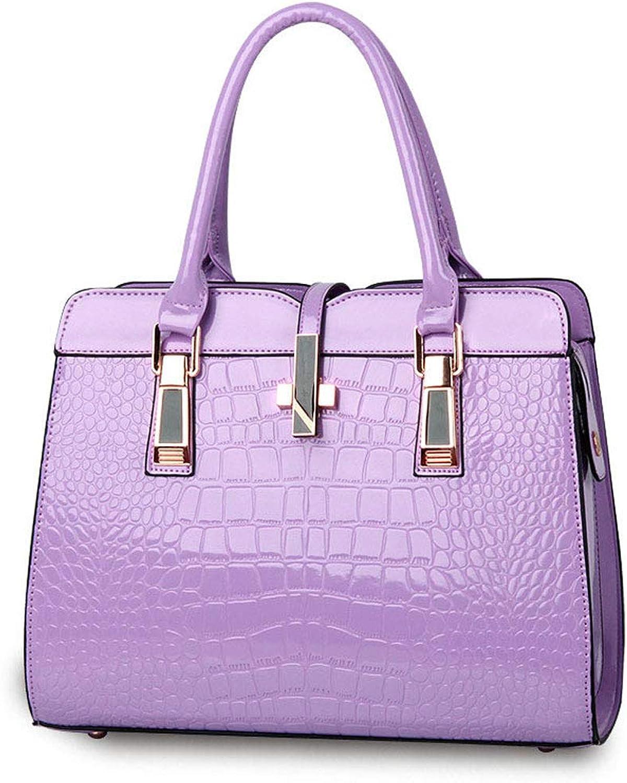 Vnlig Fashion Lady Shoulder Messenger Bag Large Capacity Simple Bag (color   Purple)