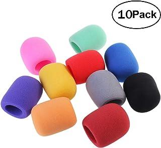 NUOLUX 10 etapa mano micrófono espuma suave Mic Windshileds micrófono parabrisas fundas de colores