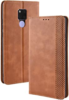 Protect Huawei Mate 20 X (7.2 inch) PU Leather+Soft Inner Design Business Magnetic Closure Flip Wallet Protective Phone case Cover for Fashion (Color : Brown)