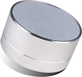 CASVO A10 Wireless Super Bass Mini Metal Aluminium Alloy Portable Bluetooth Speaker with Built-in-Mic | LED Light | Micro SD Card Slot Compatible with All Android Smartphone (Grey)
