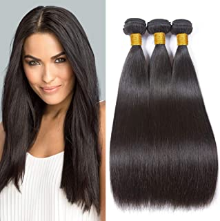 SEXAY Hair Brazilian Virgin Hair Straight 3Pcs/Lot Remy Human Hair Weave Bundles Natural Color (14''16''18'')