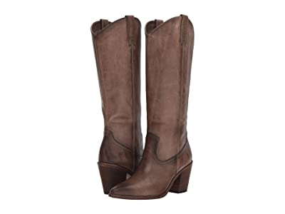 Frye Faye Pull-On (Stone Washed Antique Pull-Up) Cowboy Boots