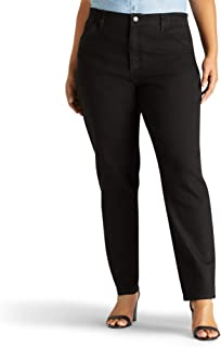 LEE Women's Plus Size Relaxed-fit Elastic-Waist Jean