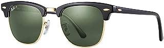 RB3016 Clubmaster Sunglasses(51 mm,Tortoise Frame Solid Black G15 Lens)Ê