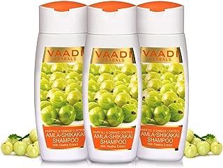 Vaadi Herbals Value Pack of 3 Amla Shikakai Shampoo-Hairfall & Damage Control