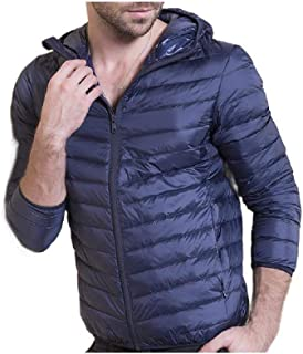 neveraway Men's Hoode Fall Winter Plus Size Thick Coat Fashion Down Jacket
