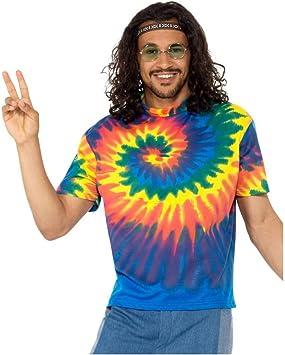 Batik Hippie Hombre Camisa De Disfraces M : Amazon.es ...