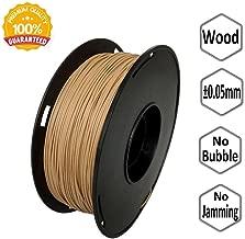 NOVAMAKER Wood 3D Printer Filament - Wood 1KG (2.2lb), Diameter Accuracy +/- 0.05mm