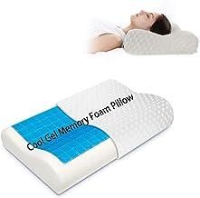 وسادة علاجية بتصميم داعم للرقبة مصنوعة من رغوة الذاكرة مع غطاء قابل للإزالة قابل للغسل (ابيض)