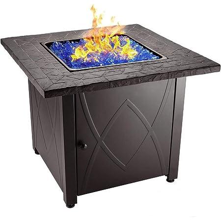 Amazon Com Endless Summer 30 Outdoor Propane Gas Fire Pit Table Blue Fireglass Garden Outdoor