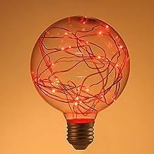 OSALADI LED Edison flikkerende gloeilamp Sterrenlamp Fee 220 V G95 LED Gloeilamp Decoratief fonkelend Sterren Glas String ...