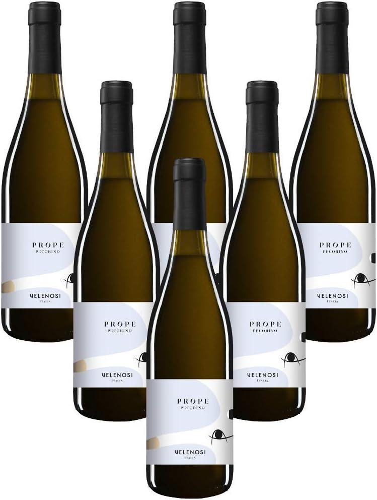 VELENOSI vinos - Abruzzo marca PROPE Pecorino IGT Colli Apruniti Vino blanco italiano (6 botellas 75 cl.)