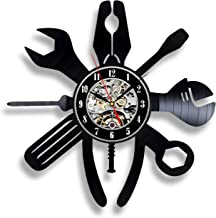 Repair kit vinyl wall clock family gift garage tool dad's artwork repairman ornament mechanic grandfather house real man