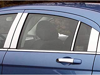 QAA FITS Sebring 2007-2010 Chrysler (8 Pc: Stainless Steel Pillar Post Trim Kit, 4-Door) PP47782