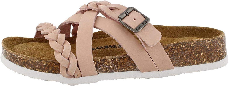SoftMoc Women's Jenny-O Cork Footbed Toe Loop Sandal