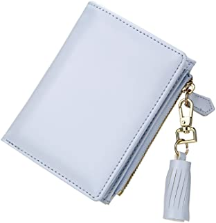 TJEtrade Wallets for Women Leather Zipper Bifold Card Holder Coin Purse Small