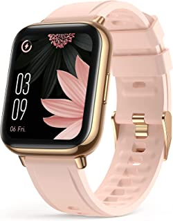 """Smart Watch for Women, AGPTEK 1.69""""(43mm) Smartwatch for Android and iOS Phones IP68 Waterproof Fitness Tracker Watch Hear..."""