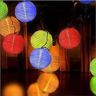 Ibello - Guirnalda luminosa solar con tira de luz de color impermeable, 4 metros, 20 LED, luz blanca cálida, decoración para dormitorio, fiesta, jardín, boda, interior o exterior