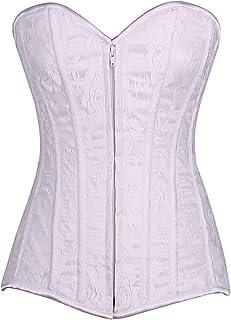 e09ca10f71 Daisy corsets Lavish White Lace Overbust Corset Dress with Zipper