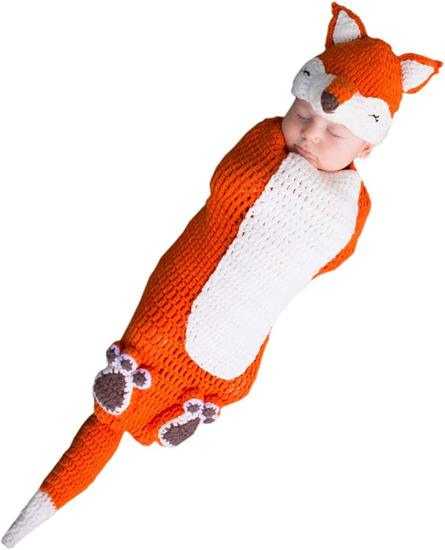 Horror-negozio Crochet Fox bambino Costume borsa Crochet Fox Costume borsa 0-3 Monate
