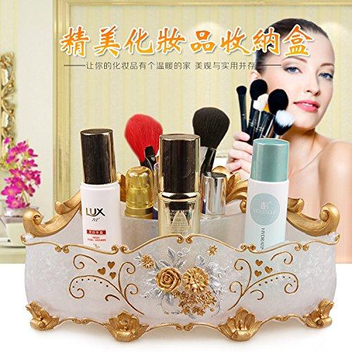 MZP Kosmetik Storage Box Desktop-Bett Kommode große multifunktionale Hautpflege-Produkte Lippenstift Aufbewahrungsbox Lagerung , roses, lovers, pearls, white