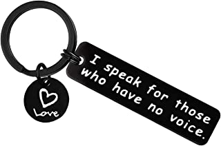 Vet Keychain Gift Veterinary Medicine Graduation Gift I Speak for Those Who Have No Voice Keyring Veterinarian Gifts Pet O...