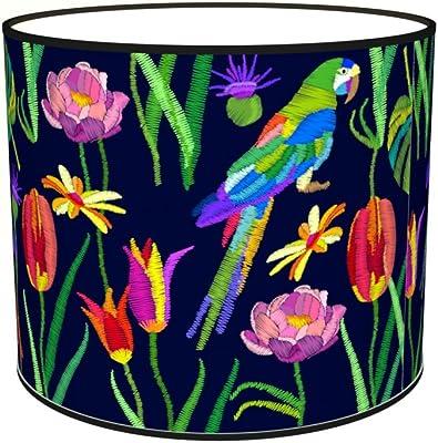 Abat-jours 7111309208424 Imprimé Ollio Lampe de Chevet, Tissus/PVC, Multicolore