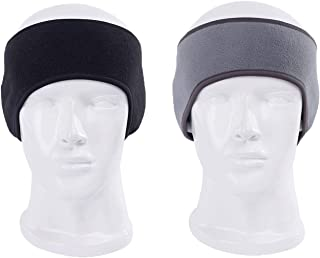 WeiMeet Earmuff Ear Warmer Ski Headband Ear Cover Head Wrap Moisture Wicking Sweatband(2 Pack)
