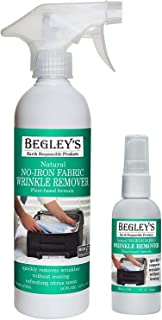 Begley's Best Natural No-Iron Wrinkle Remover, Quick Fix Wrinkle Release, Static Cling Remover, Fabric Freshener - USDA Ce...