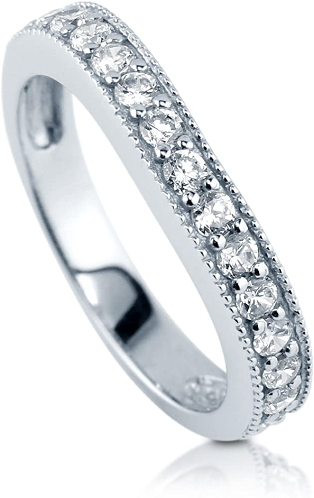 BERRICLE Rhodium Plated Sterling Silver Annive Wholesale Cubic Ranking TOP10 CZ Zirconia