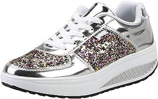 Femmes Chaussures compensées à Plateforme Dames Chaussures de Fitness Orthopédie Espadrilles de Coin