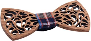 Handmade Bowtie Hollow Paragraph Wooden Pre-Tied Men's Wood Bow Tie