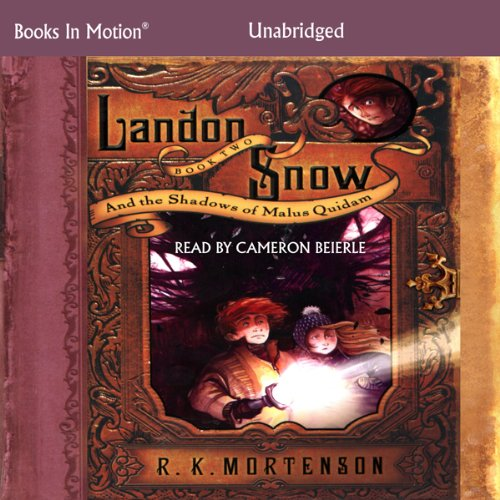 Landon Snow and the Shadows of Malus Quidam audiobook cover art