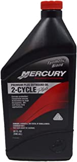 Mercury/Quicksilver 92-858026K01 Premium Plus Synthetic Blend TCW-3 Outboard Oil - 1 Quart