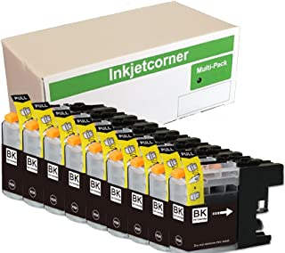 Inkjetcorner Compatible Ink Cartridges Replacement for LC103XL BLC103 BK (Black, 9-Pack)