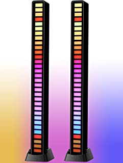 RGB Voice-Activated Pickup Rhythm Light, Creative Colorful Sound Control Ambient Light, with 32 Bit Music Level Indicator ...